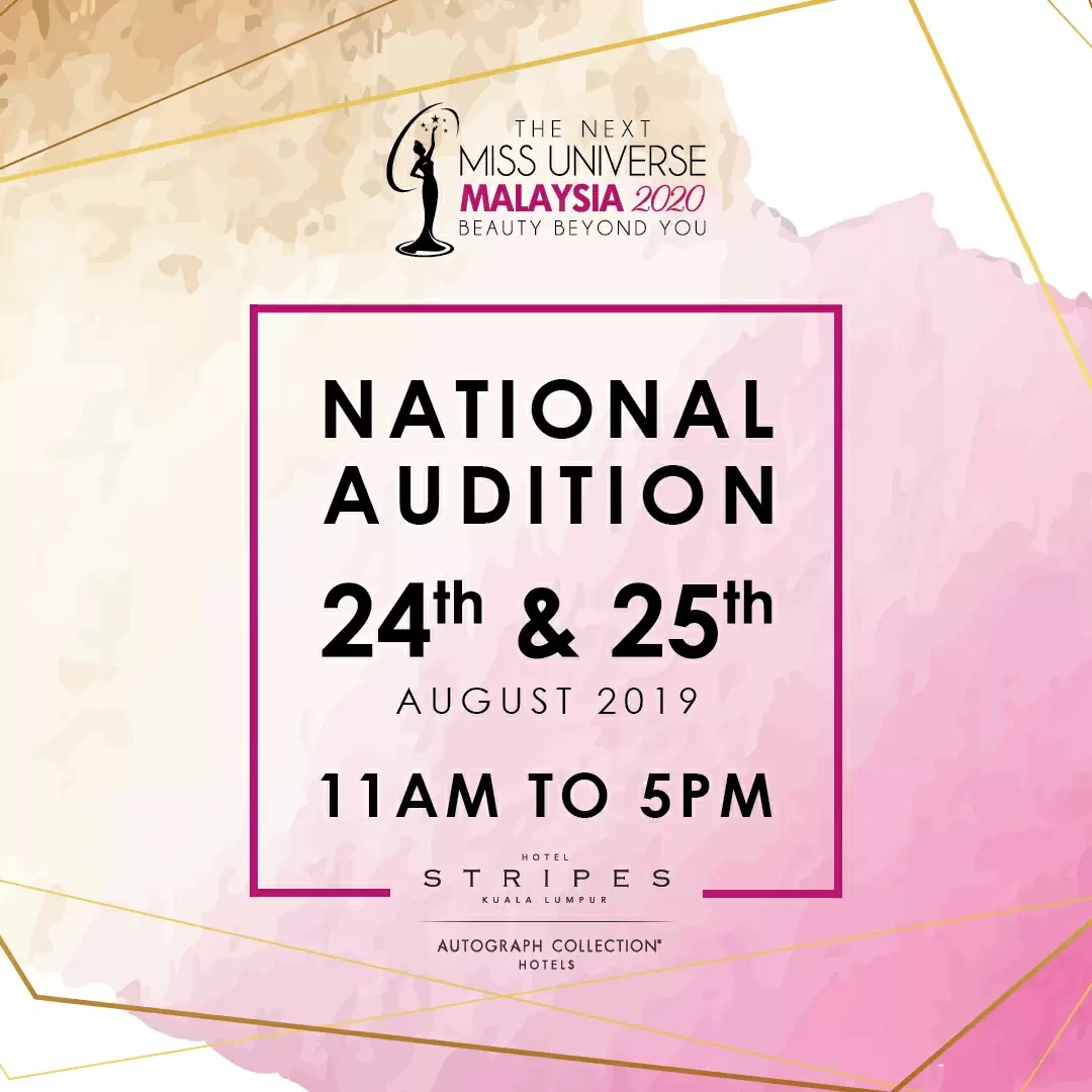National Audition For Miss Universe Malaysia 2020 Is