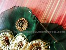 Ruffled Motif Patch Work By Gathering - Basting The Motif Edge