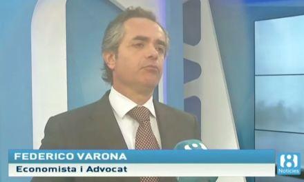 FEDERICO VARONA ANALIZA EN 8 TV LA SENTENCIA DEL SUPREMO SOBRE EL IMPUESTO AJD