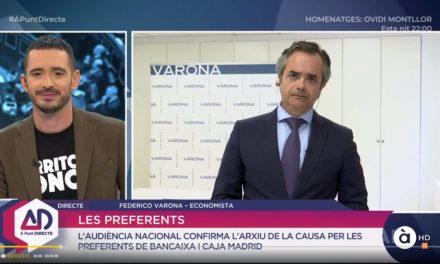 FEDERICO VARONA ANALIZA EN À PUNT DIRECTE LOS PRESUPUESTOS GENERALES 2019