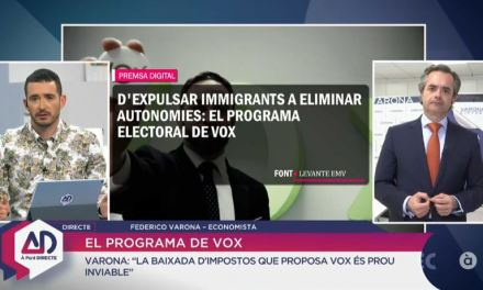 FEDERICO VARONA EXPLICA EN À PUNT DIRECTE EL PROGRAMA ECONÓMICO DE VOX
