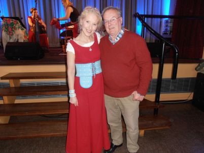 Susan and me after concert.