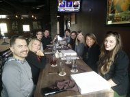 Team lunch with McMahon's team.