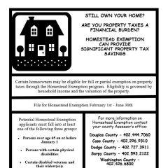 Homestead Exemption Assistance – March-June