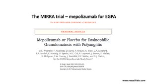 The MIRRA trial: Mepolizumab (Nucala) or placebo for the treatment of EGPA/Churg-Strauss Syndrome
