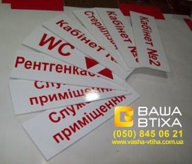 Заказать таблички с названиями кабинетов