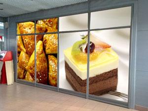 Дизайн и поклейка витрин в Киеве