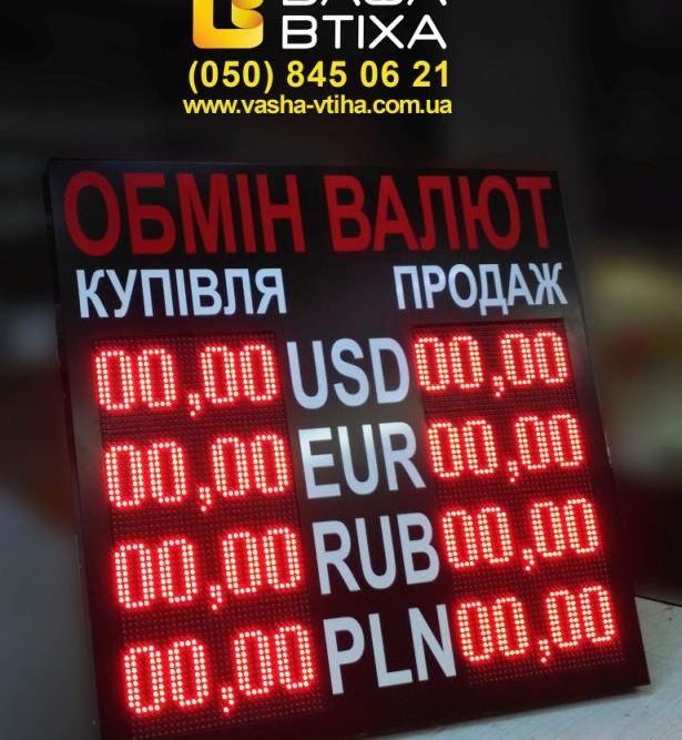 Купить табло котировок валют с доставкой и установкой, РК Ваша Втиха