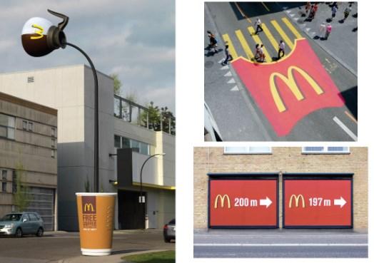Рекламные инсталляции, необычные рекламные конструкции