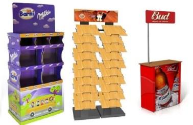Заказать брендированный стеллаж, или промо-стойку для отдельного и эффектного размещения товаров своей торговой марки.