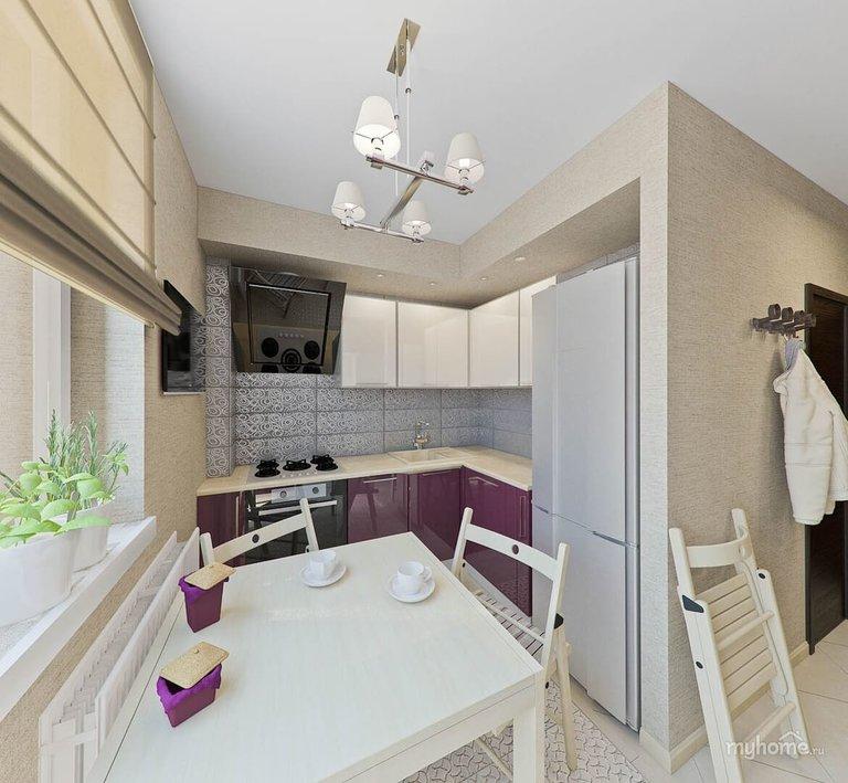 Кухня площадью 7 кв.м: 50+ фото, варианты дизайна ...