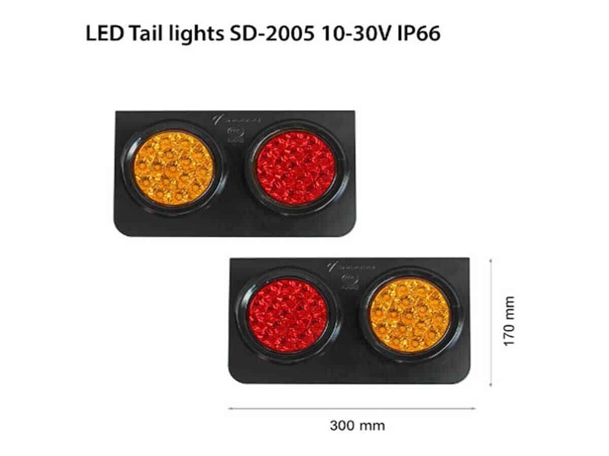 LED ЗАДНИ СВЕТЛИНИ SD-2005 12/24V 50000h IP67 200x170