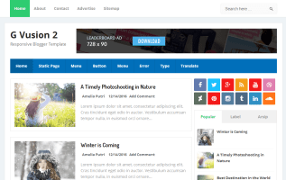 G vusion 2 blogger template