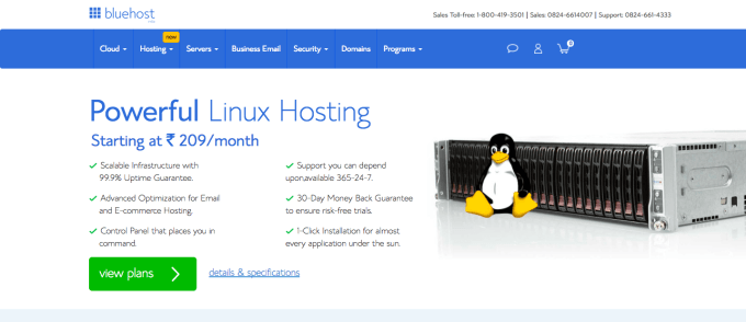 bluehost shared linux hosting