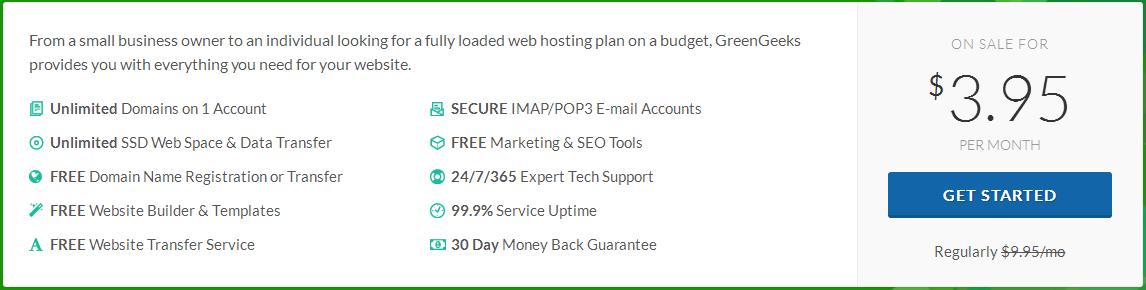 greengeek hosting price