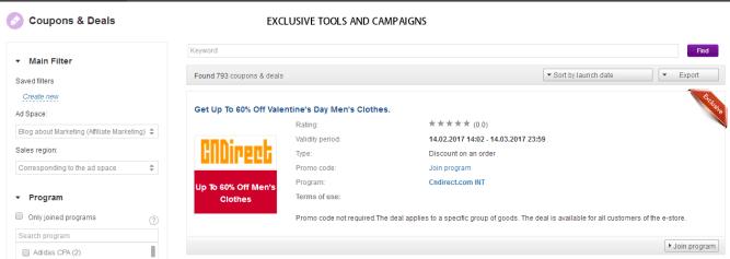 admitad exclusive tools