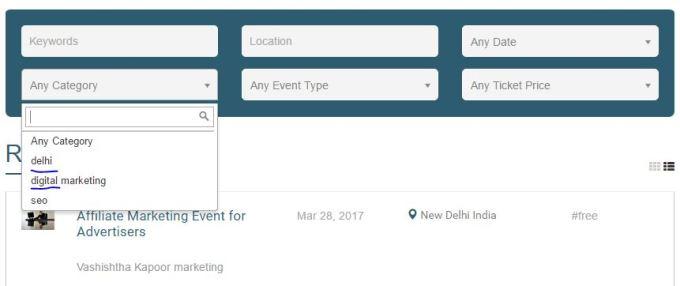 categorize events
