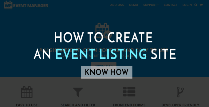 how to create an event site