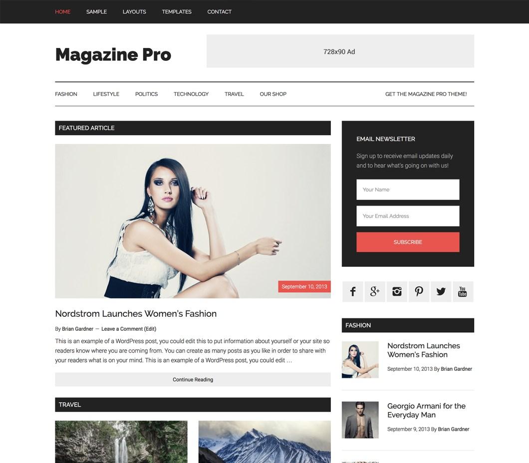magazine-pro studio press adsens optimized theme