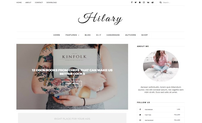 Hilary ad optimized Blogger Template