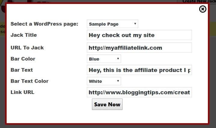 Jack Jacker create link