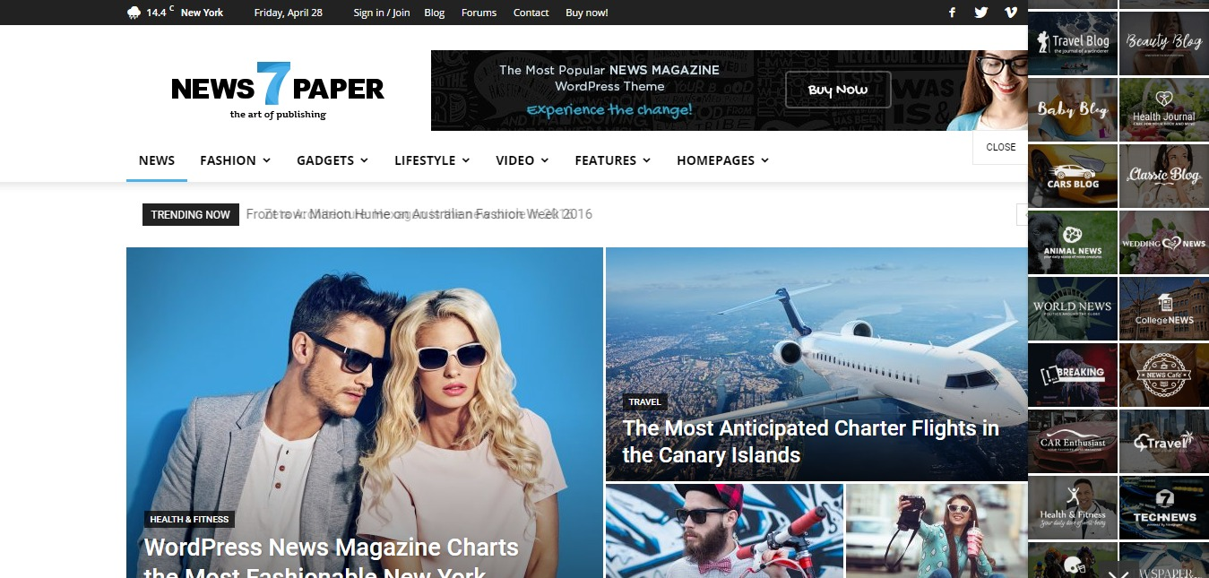Newspaper Demo Magazine WordPress Theme