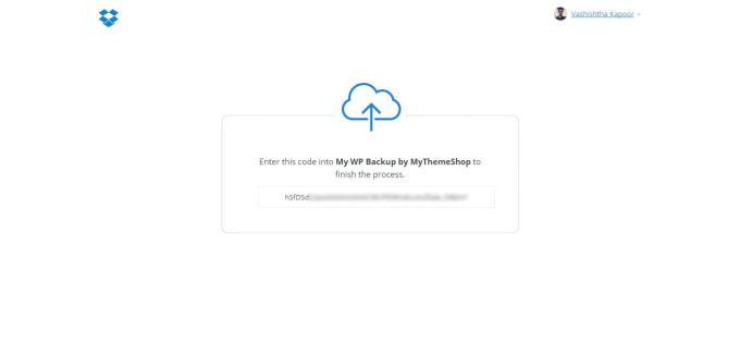 API Request Authorized Dropbox