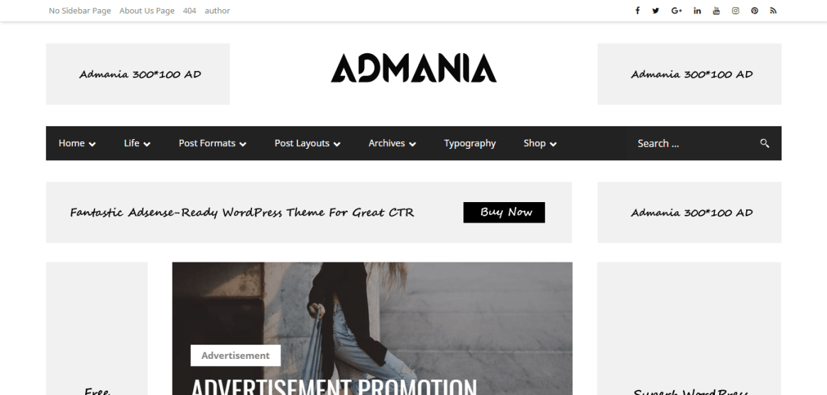 Admania theme