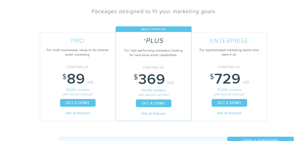 Emma Email Pricing Emma Email Marketing