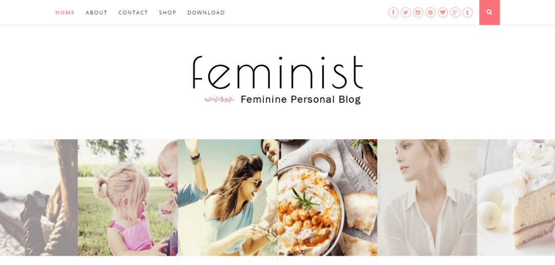 Feminist blogger template