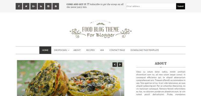 Food Blog blogger template