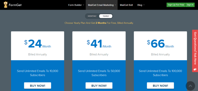 MailGet Email Marketing Via Amazon SES
