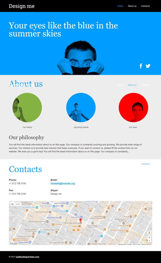 attractive landing page for companies