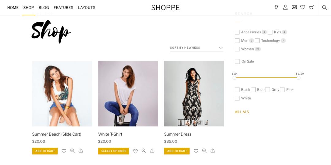 Shoppe theme