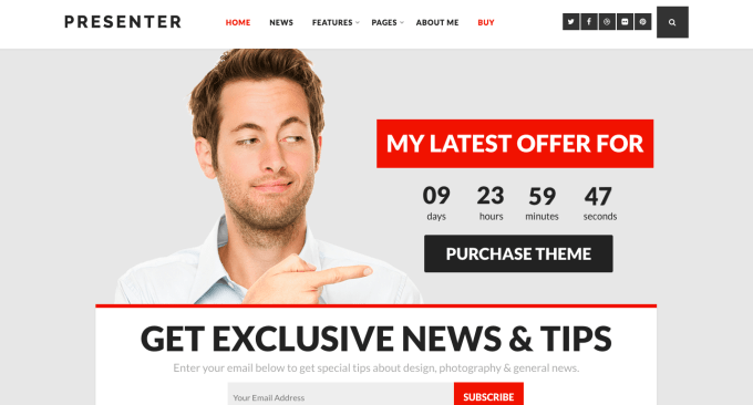 Presenter branding wordpress theme
