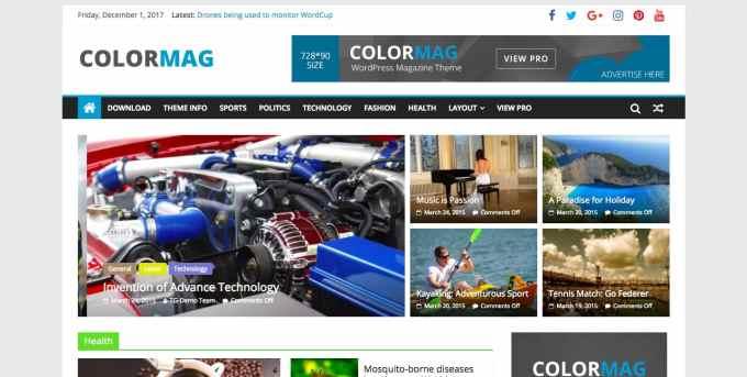 COLORMAG Magazine WordPress theme