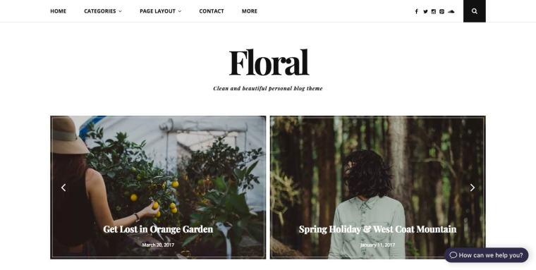 Clean and beautiful personal blog theme
