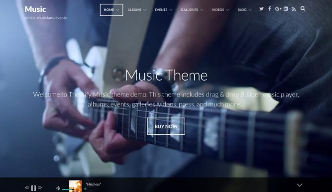 Music Theme themify