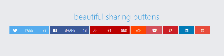 Sharify social sharing buttons