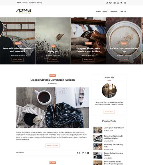 Adriana Blogger Theme