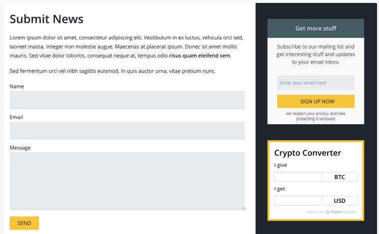 submit news and crypto converter
