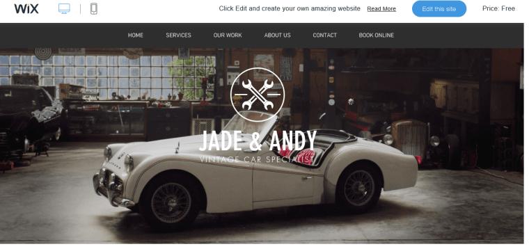 vintage cars garage