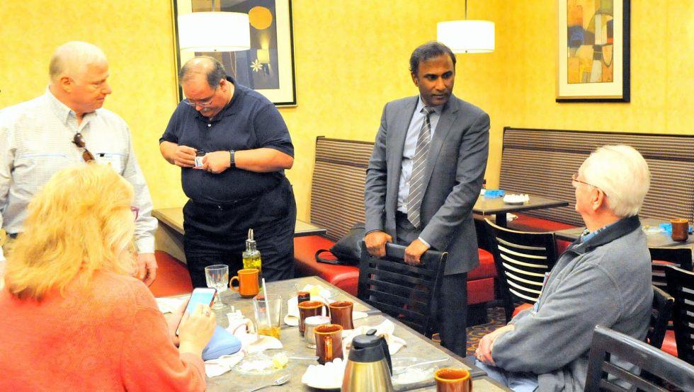 Dr. V.A. Shiva Ayyadurai at the luncheon meeting of Rotary Club of Acton-Boxborough