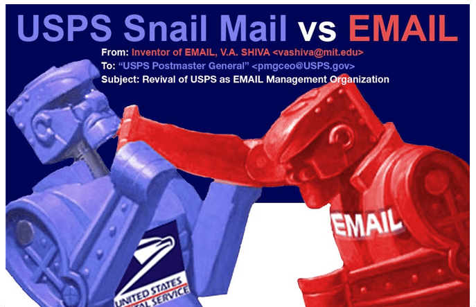 USPS Snail Mail Vs Email