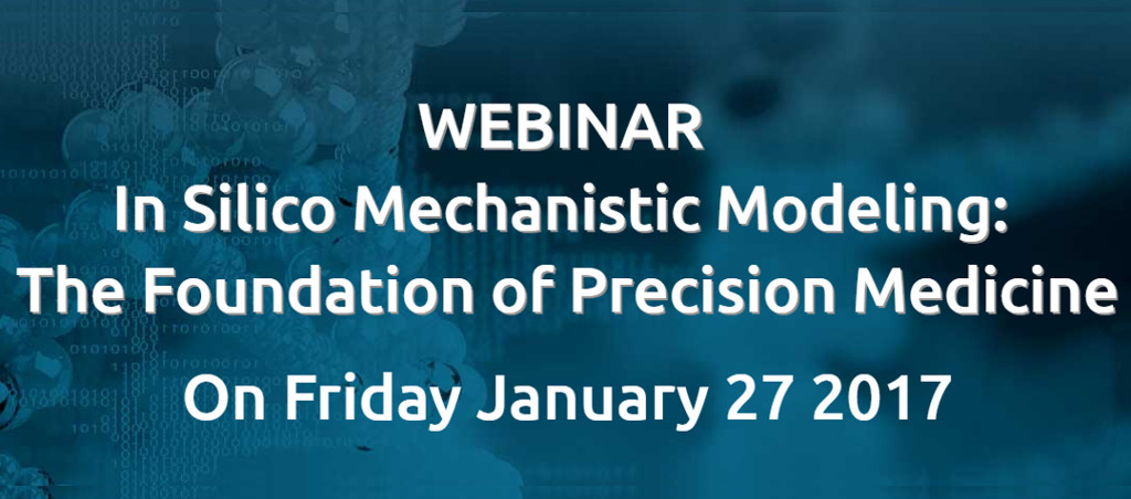 Webinar On In Silico Mechanistic Modeling: The Foundation Of Precision Medicine By Dr. V.A. Shiva Ayyadurai On January 27, 2017