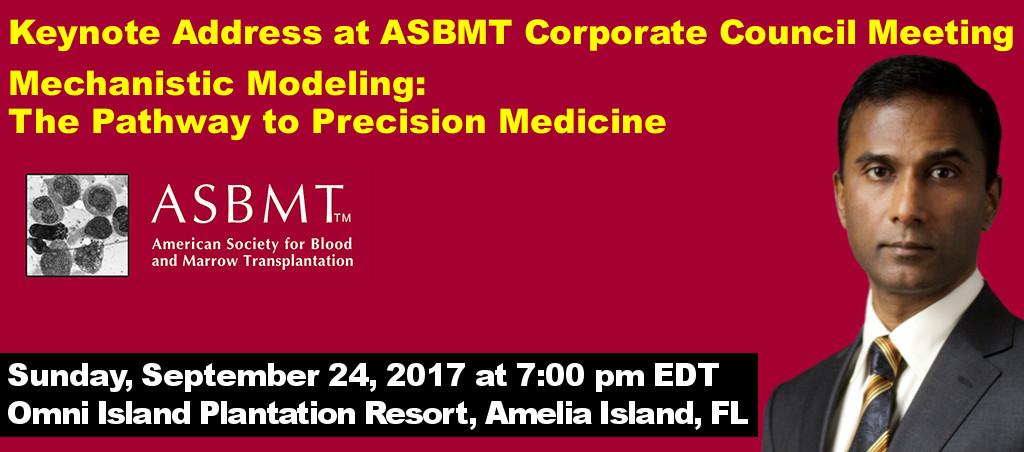 Dr. Shiva Ayyadurai Delivers Keynote Address At ASBMT Corporate Council Meeting
