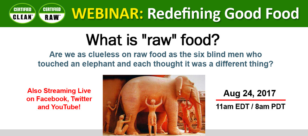 Clean Food Certified Webinar By Dr. V.A. Shiva Ayyadurai On August 24, 2017