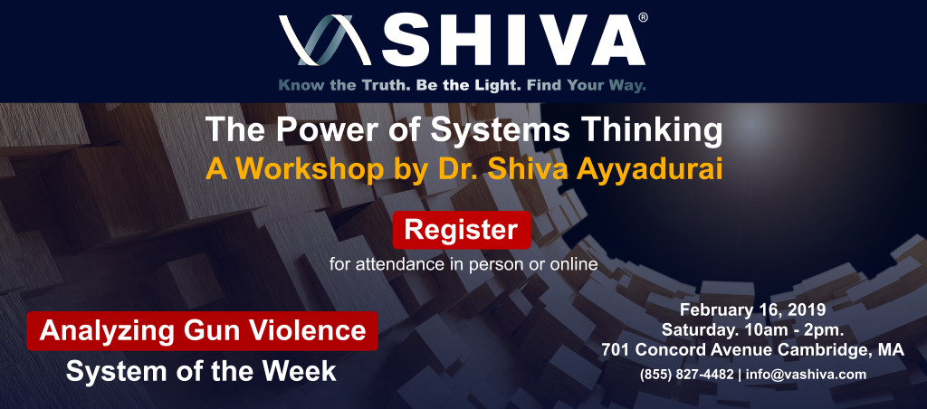 The Power Of Systems Thinking Workshop By Dr. Shiva Ayyadurai – Feb 16, 2019