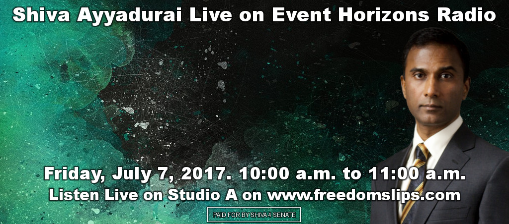 Shiva Ayyadurai Interviewed Live On Event Horizons Radio