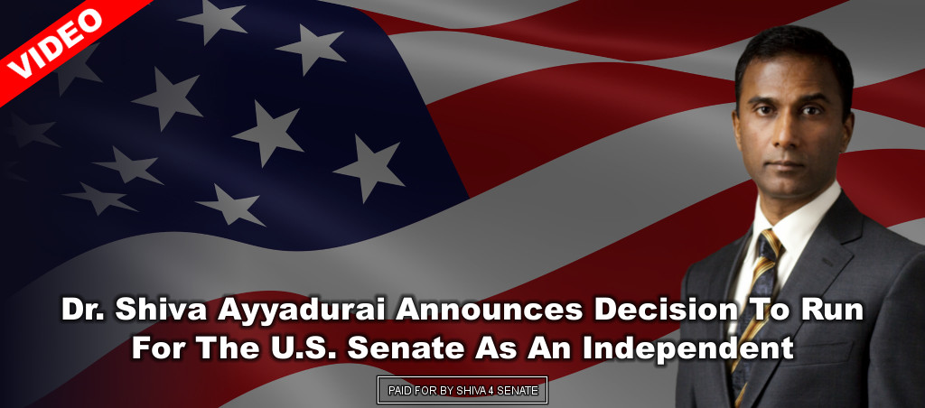 Dr. Shiva Ayyadurai Announces Decision To Run For The U.S. Senate As An Independent
